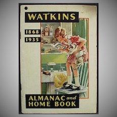 Vintage 1935 Watkins Almanac - Old J.R. Watkins Advertising