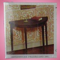 Vintage Xacto House of Miniatures Doll Furniture – Hepplewhite Side Table #40004 Unassembled Kit