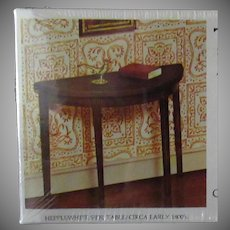 Vintage Xacto House of Miniatures Doll Furniture – Hepplewhite Side Table #40004 Unassembled Kit