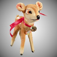 Vintage Steiff Bambi Stuffed Deer Toy with Original Steiff Hang Tag
