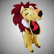 Vintage Dakin Dream Pet Stuffed Lion – Yawning King of the Jungle