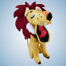 Vintage Dakin Dream Pet Stuffed Lion – Yawning King of the Jungle