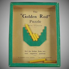 Vintage Dexterity Game of Skill - 1960's Golden Rod Puzzle