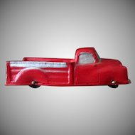 Vintage Auburn Rubber - Red Pick-up Truck in Very Nice Condition