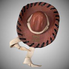 Vintage Boise Idaho Souvenir Memorabilia – Miniature Leather Hat