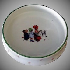 Vintage Baby Plate Feeding Dish – Children and Billy Goat - Made in Czechoslovakia