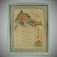 Framed Vintage Motto Print for Mom - Love to Mother Poem
