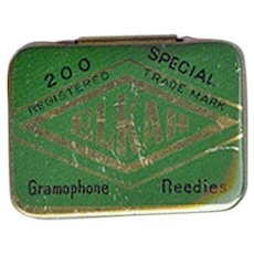 Vintage Elkah Phonograph Needle Tin - Empty Gramophone Needle Tin
