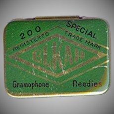 Vintage Elkah Phonograph Needle Tin - Empty Gramophone Needle Tin