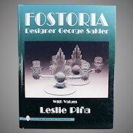 Old Hardbound Reference Book - Fostoria Designer George Sakier - 1996