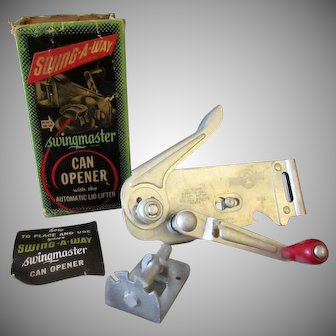 Vintage Wall Mounted Swing-A-Way Swingmaster Can Opener – 1940's