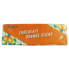 Vintage Sweet Candy Co. of Salt Lake City Chocolate Orange Sticks Box