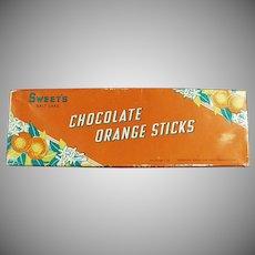 Vintage Sweet Candy Co. of Salt Lake City Chocolate Orange Sticks Box