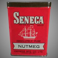 Vintage Seneca Nutmeg Spice Tin by Empress – Old Advertising Tin