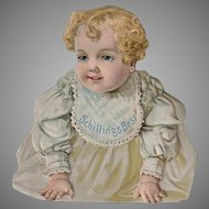 Vintage Schilling's Advertising Trade Card - Die Cut Sign with Baby