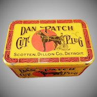 Vintage Dan Patch Cut Plug Tobacco Tin – Nice Colorful Advertising
