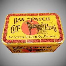 Vintage Dan Patch Cut Plug Tobacco Tin – Nice Colorful Advertising