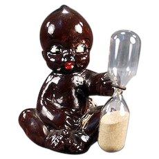 Vintage Egg Timer - Black Kewpie-Like Baby - Old Black Memorabilia