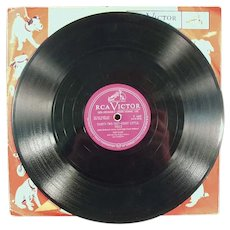 Child's Vintage RCA Victor 78 Record with Suzy Snowflake by Dale Evans