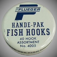 Vintage Fish Hook Tin - Pflueger Hande-Pak Fish Hooks
