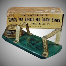 Vintage Houchin's Princess Alchol Heater Curling Iron Heater with Original Box - 1800's