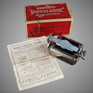 Vintage Kanner's Dubeledge Razor Blade Stropper Sharpener with Original Box