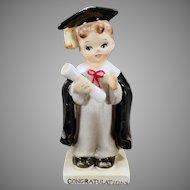 Vintage Norcrest Porcelain Boy Graduate - A Graduation Congratulations Figurine