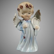 Vintage Porcelain Angel Figure - Sweet Angel Carrying a Heart