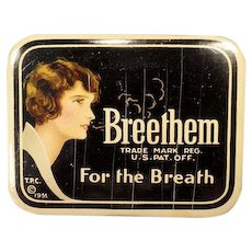 Vintage Breethem For the Breath - Medical Tin from the 1930's