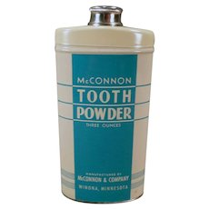 Vintage McConnon Tooth Powder Medical Advertising Tin