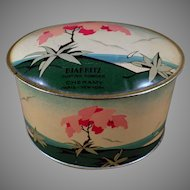 Vintage Cheramy Biarritz Dusting Powder Talc Tin - Very Pretty Powder Tin
