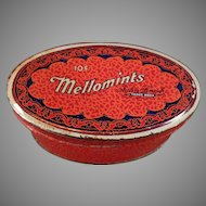 Vintage Brandle and Smith Mellomint Candy Tin - 10c Size
