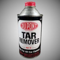 Vintage Automotive Advertising Tin - DuPont Tar Remover for Cars  - Cone Top Tin