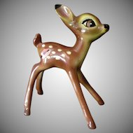 Vintage American Pottery Figurine from Disney's Bambi – 1940's with Label