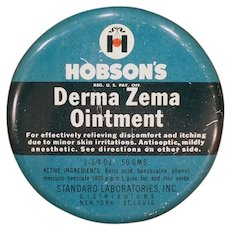 Vintage Hobson's Derma Zema Ointment Tin – Old Medicine Advertising