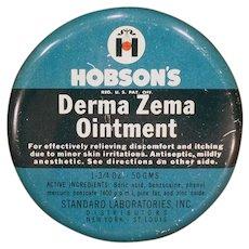 Vintage Hobson's Derma Zema Ointment Tin – Old Medicine Advertising