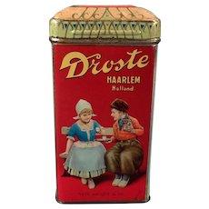 Vintage Droste Cocoa Tin - Old Droste's Dutch Cocoa Tin with Children