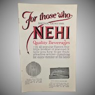 Vintage Nehi Soda Premium Booklet – Old Nehi Beverages Product Catalog