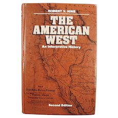 The American West - An Interpretive History - Hardbound Vintage Book