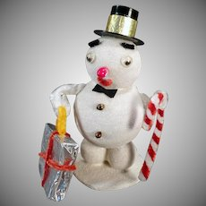 Vintage Snowmen Christmas Decoration  – Frosty the Snowman Ornament