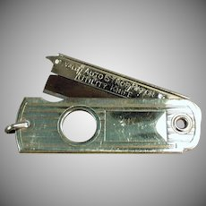 Vintage Valet Autostrop Safety Razor Co. Utility Knife Cigar Cutter Watch Fob