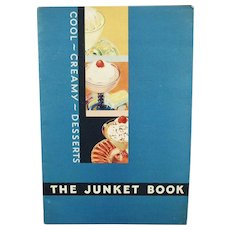 Vintage Junket Cool Creamy Desserts Recipe Booklet Cook Book