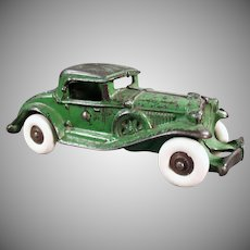 Vintage 1930's A.C. Williams Cast Iron Car - Large Coupe with Rumble Seat