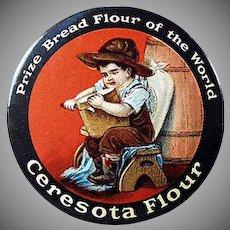 Vintage Advertising Celluloid Pocket Mirror for Ceresota Flour - Good Condition