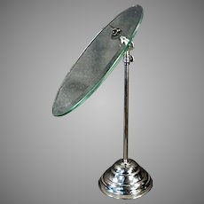 Vintage Beveled Glass, Adjustable Height and Angle Shoe Stand for Displaying Old Shoes