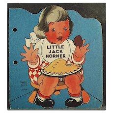 Child's 1942 Vintage Story Book - Little Jack Horner - Paperback