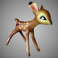 Vintage American Pottery Figurine from Disney's Bambi – 1940's Faline with Label