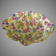 Vintage Royal Winton Chintz – Colorful Kew Pattern, Gold Trim Small Bowl