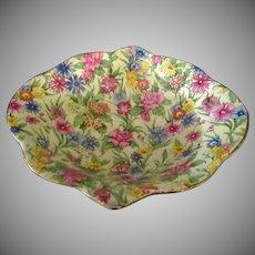 Vintage Royal Winton Chintz – Colorful Kew Pattern, Gold Trim Small Bowl