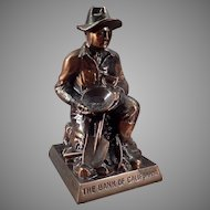 Vintage Figural Advertising Coin Bank -  California Gold Prospector